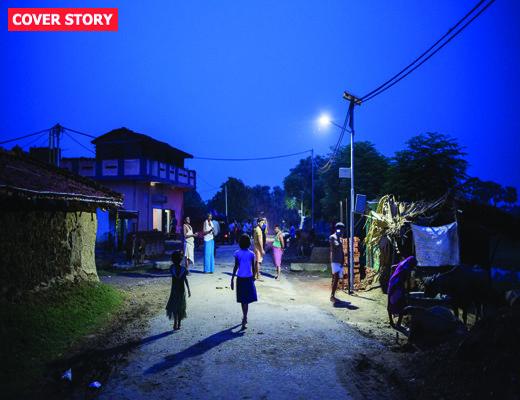 Solar Powered Street Light in Dharnai Village in India